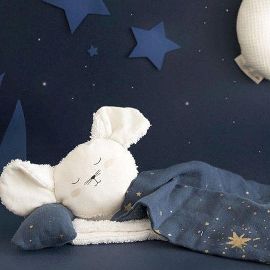 Nobodinoz tipi en accessoires Baby comforter Mouse Natural - Nobodinoz