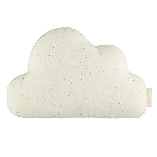 Nobodinoz tipi en accessoires Nobodinoz Cloud Kissen Honey Sweet Dots - Natural
