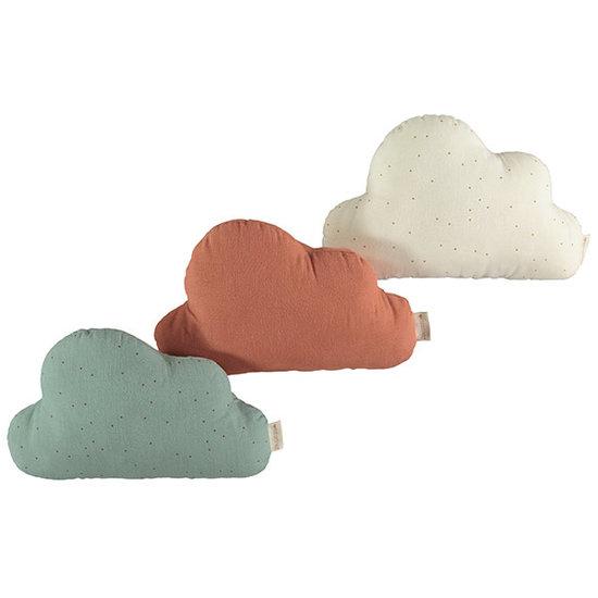 Nobodinoz tipi en accessoires Nobodinoz Cloud kussen Honey Sweet Dots - Natural