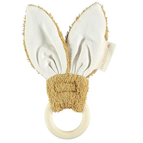 Nobodinoz tipi en accessoires Bijtring Bunny Caramel 7cm - Nobodinoz