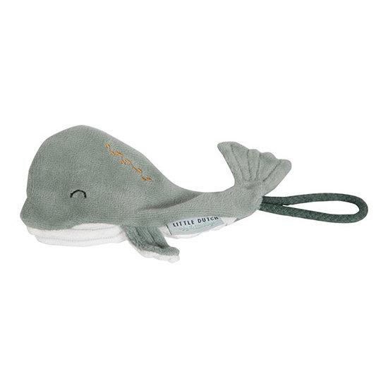 Little Dutch Pacifier clip whale Ocean Mint - Little Dutch