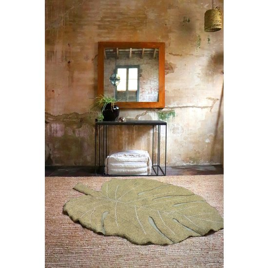 Lorena Canals Rug - Monstera Olive - Lorena Canals