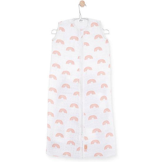 Jollein Jollein muslin summer sleeping bag 70cm Rainbow pink