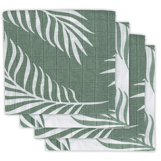 Jollein Jollein hydrofiele doek 70cm Nature green 4pack