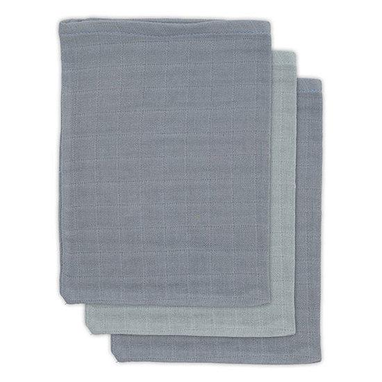 Jollein Jollein bamboo washcloth Storm grey 3pack