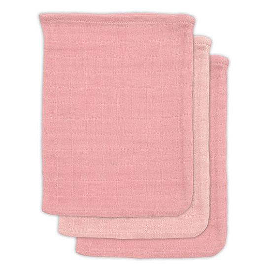 Jollein Jollein bamboe washandje Pale pink 3pack