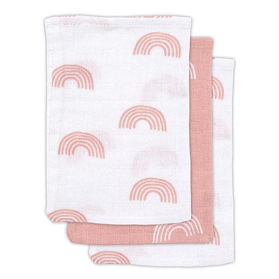 Jollein Jollein hydrofiel washandje Rainbow pink 3pack
