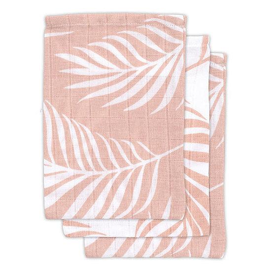 Jollein Jollein hydrofiel washandje Nature pink 3pack