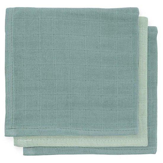 Jollein Jollein bamboo facecloth Ash green 3pack