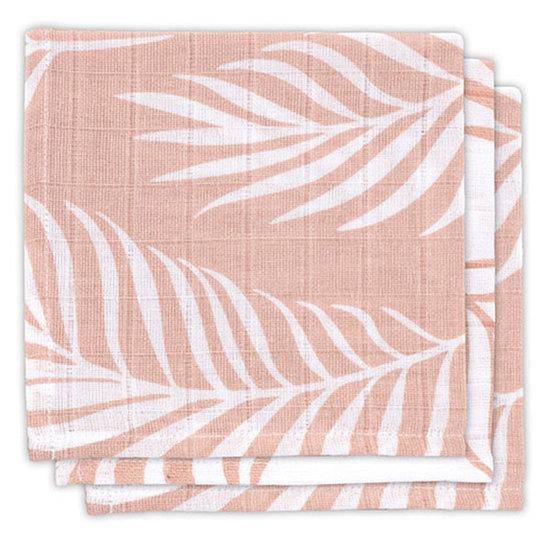 Jollein Jollein muslin facecloth Nature pink 3pack