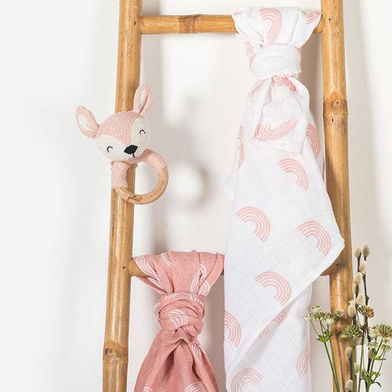 Jollein Jollein teether Deer Pale pink