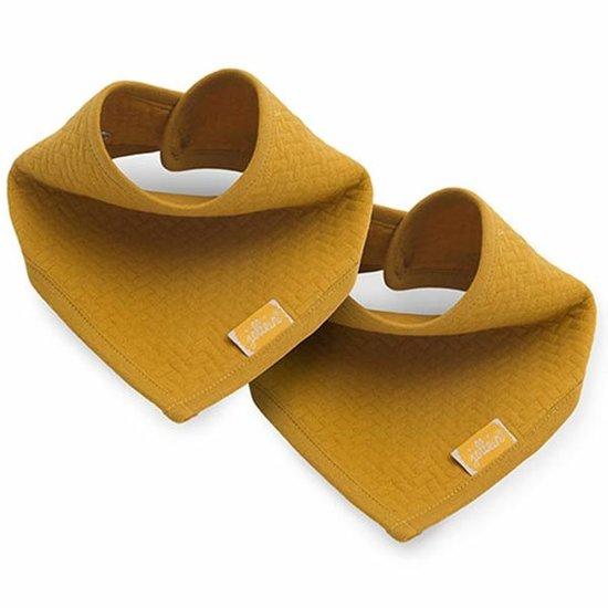 Jollein Jollein dribble bib Brick velvet Mustard 2pack