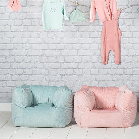 Jollein Jollein beanbag - kids sofa Rib blush pink