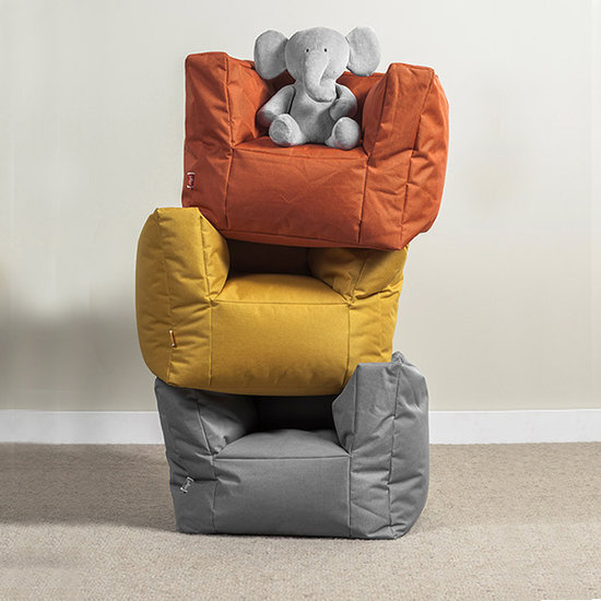 Jollein Jollein beanbag - kids sofa Storm grey
