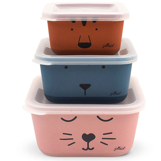 Jollein Jollein snack box bamboo Animal club 3pcs