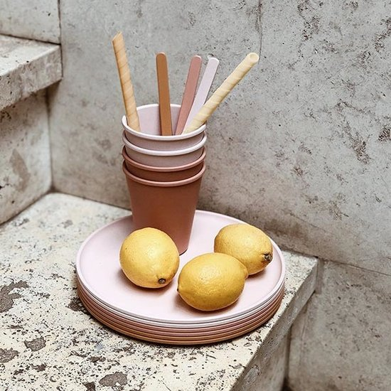 Liewood Liewood Gertrud bamboo cups Rose Multi mix 6pack