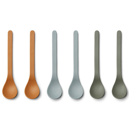 Liewood Liewood Etsu bamboo spoons Blue Multi mix 6pack
