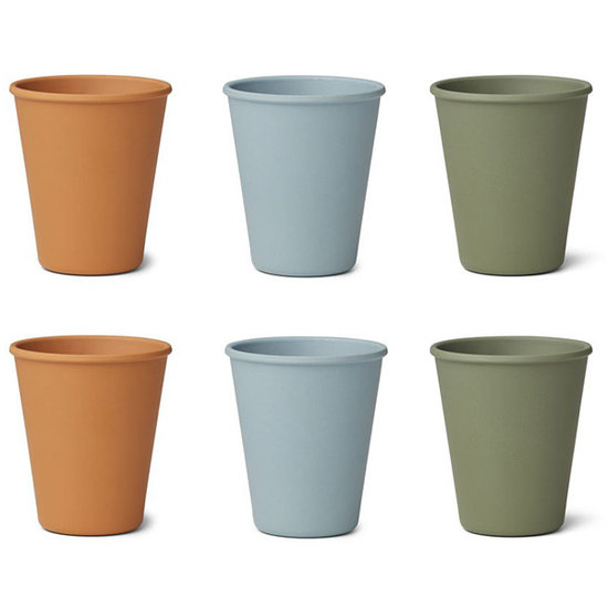 Liewood Liewood Gertrud bamboo cups Blue Multi mix 6pack