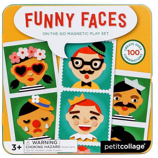 Petit Collage Magnetbuch Lustige Gesichter - Petit Collage