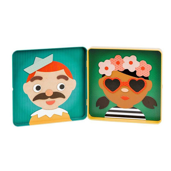 Petit Collage Magnetic book funny faces - Petit Collage