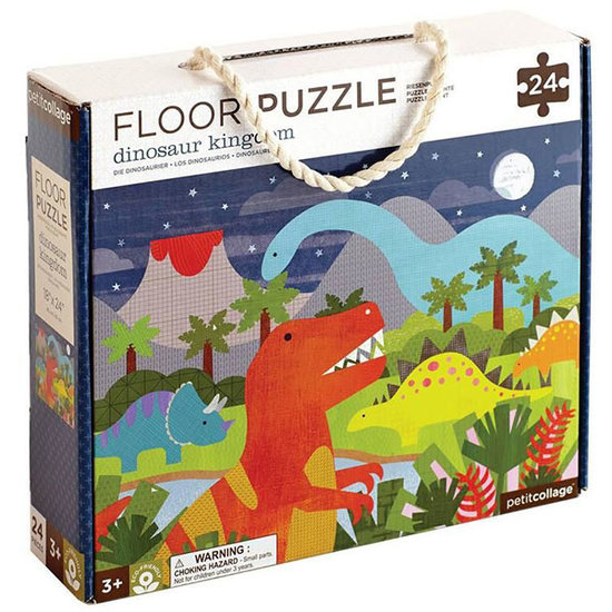 Petit Collage Petit Collage floor puzzle dinosaur 24st