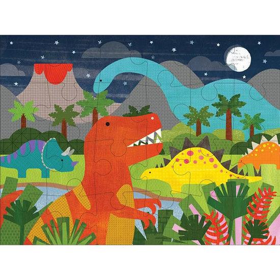 Petit Collage Petit Collage vloerpuzzel dinosaurus 24st