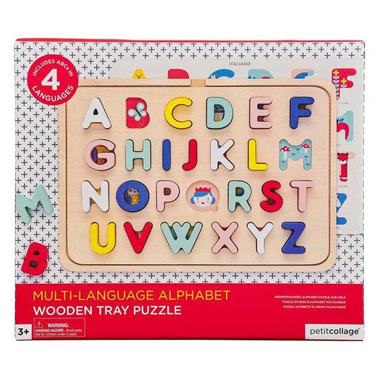 Petit Collage Petit Collage Alphabet Holz Puzzle