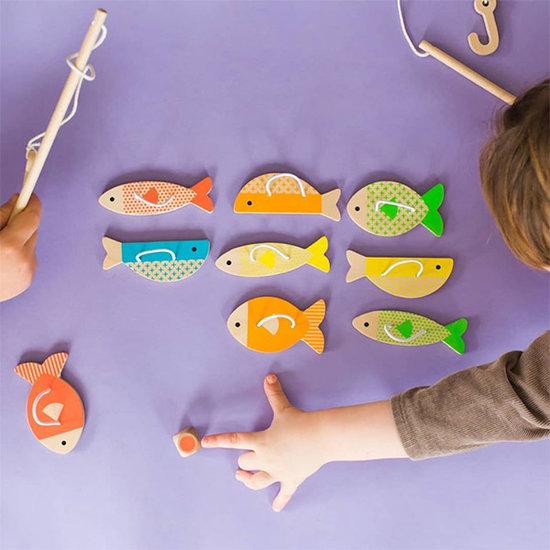 Petit Collage Fishing Game Fishing Around - Petit Collage