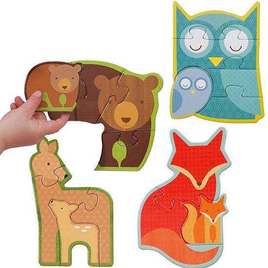 Petit Collage Petit Collage premier puzzle animaux de la forêt
