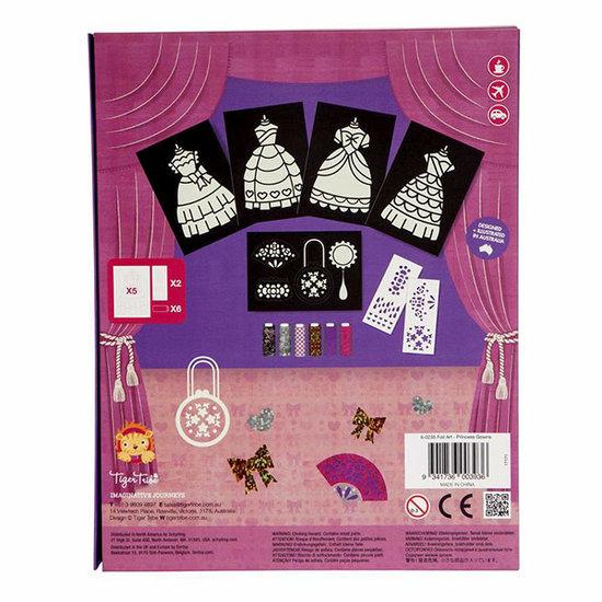 Tiger Tribe Tiger Tribe knutselpakket Foil Art prinsessenjurk