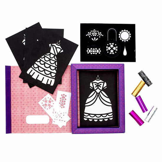Tiger Tribe Tiger Tribe craft set Foil Art princess dresses