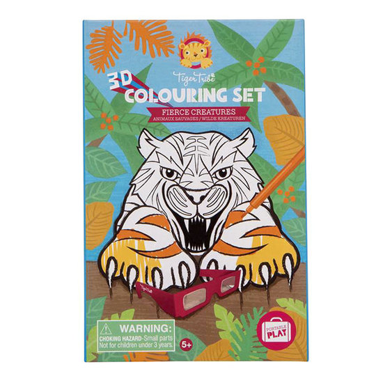 Tiger Tribe Tiger Tribe 3D colouring set Fierce creatures