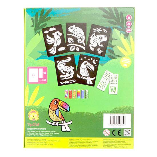 Tiger Tribe Tiger Tribe knutselpakket Foil Art regenwoud