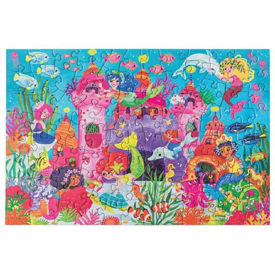 Crocodile Creek Crocodile Creek puzzel & poster zeemeermin 100st
