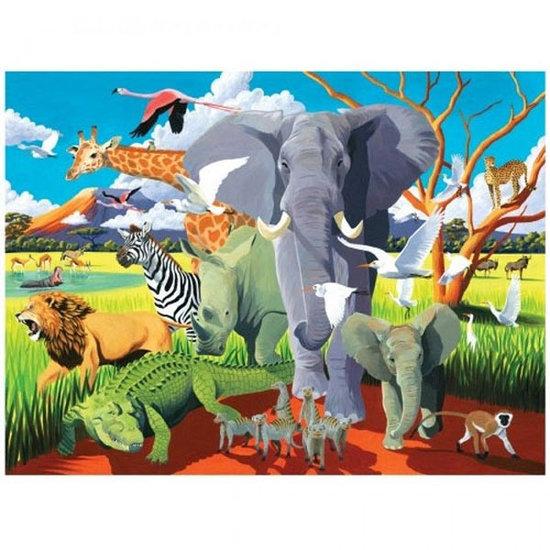 Crocodile Creek Crocodile Creek puzzel & poster Wild Safari 100st