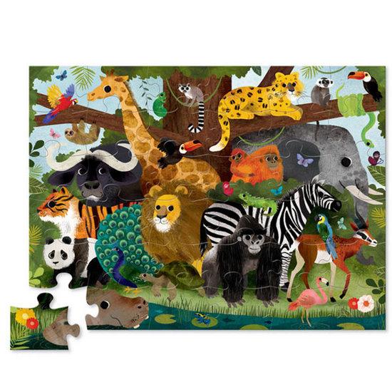 Crocodile Creek Crocodile Creek puzzel Jungle dieren 36st