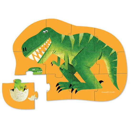 Crocodile Creek Crocodile Creek mini puzzel Dinosaurus 12st