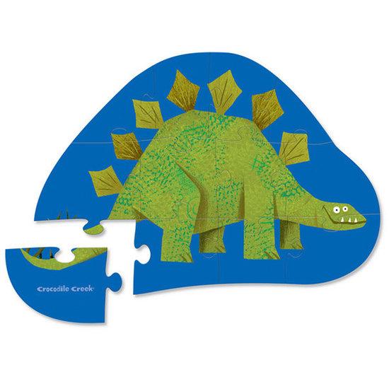 Crocodile Creek Crocodile Creek mini puzzel Stegosaurus 12st