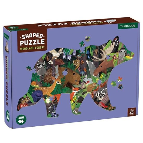 Mudpuppy Mudpuppy silhouet puzzel Woodland Forest 300st