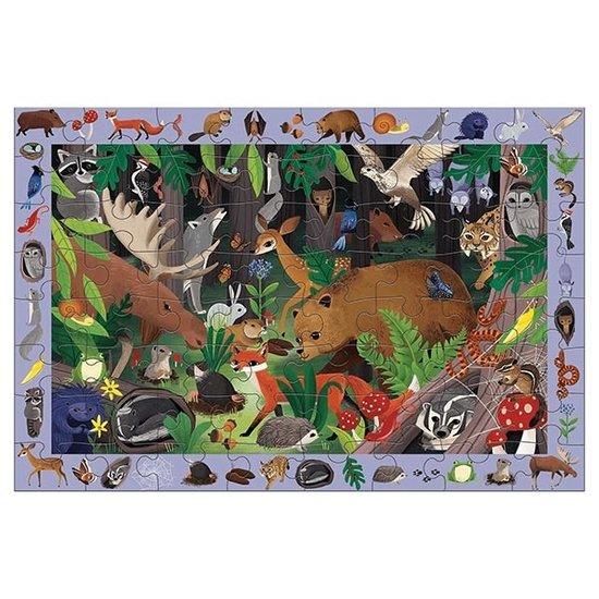 Mudpuppy Mudpuppy search and find puzzle Woodland 64pcs