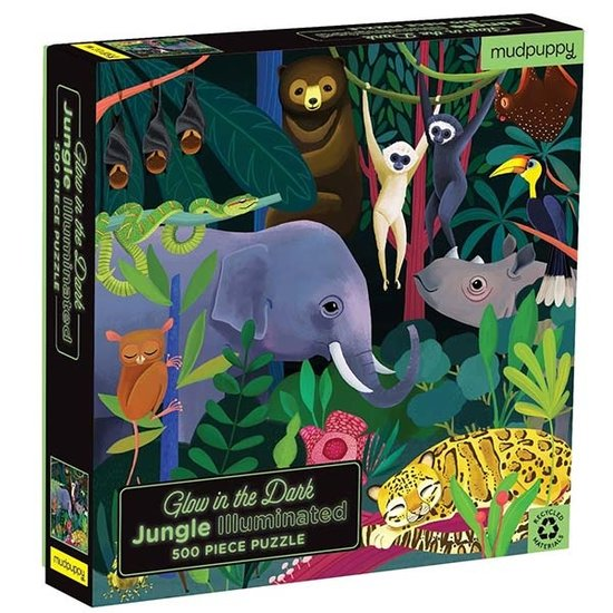 Mudpuppy Mudpuppy Glow-In-the-Dark puzzle Jungle 500pcs