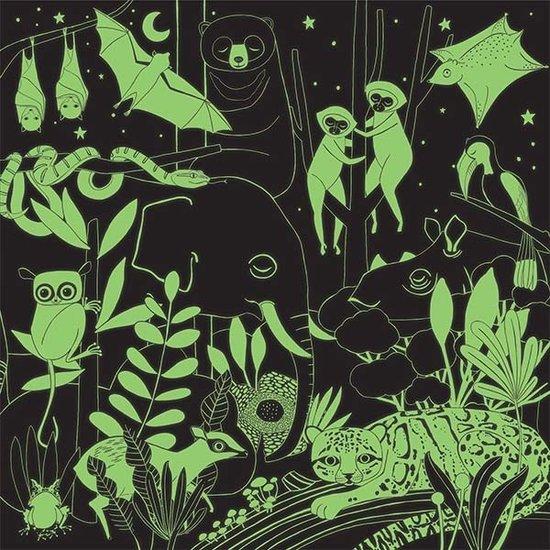 Mudpuppy Mudpuppy Glow-In-the-Dark puzzel Jungle 500st