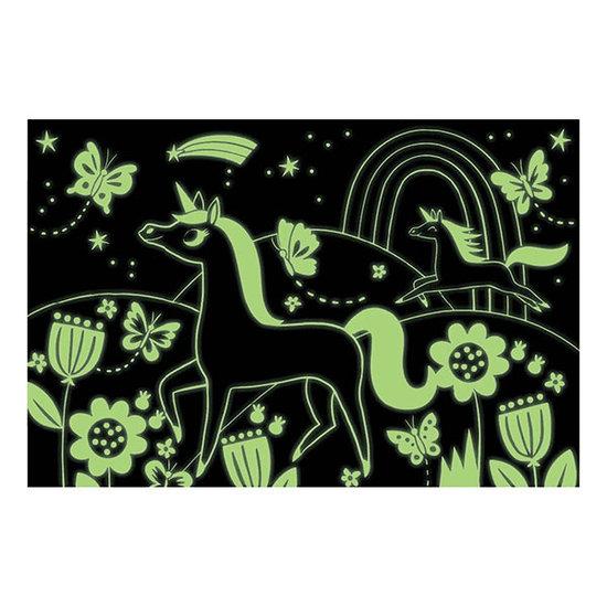 Mudpuppy Mudpuppy Glow-In-the-Dark puzzel Eenhoorns 100st