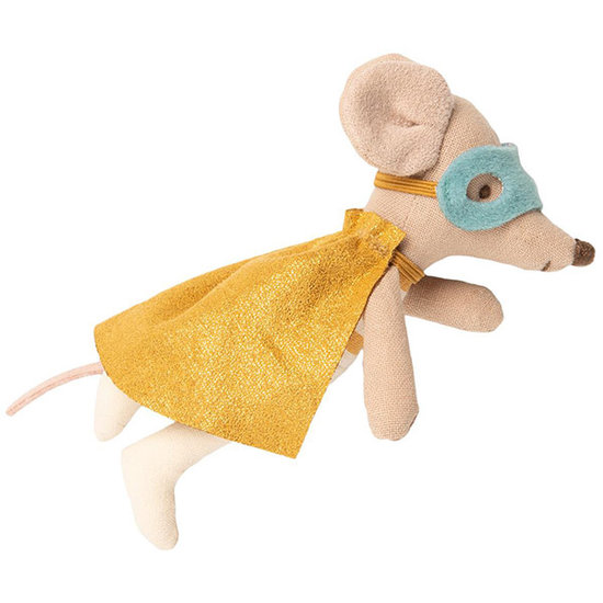 Maileg Maileg little brother Superhero mouse in suitcase