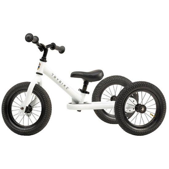 Trybike Loopfietsen Trybike Steel 2-in-1 Laufrad Weiß