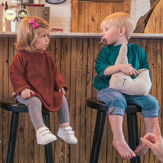 Timboo Lätzchen mit Ärmeln Hazel brown 36x34cm - Timboo