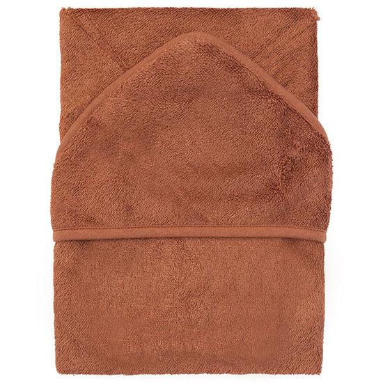 Timboo Bath cape Hazel brown 74x74cm - Timboo