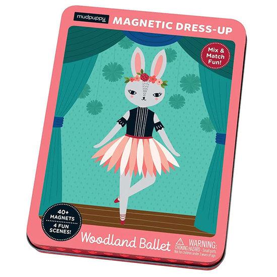 Mudpuppy Mudpuppy magneetboek Dress Up Woodland ballet