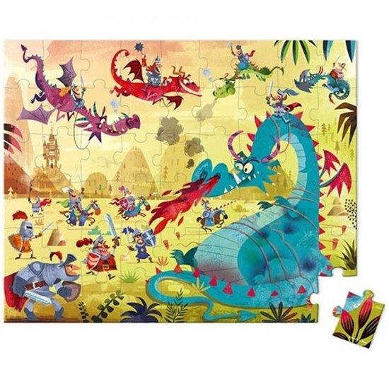 Janod speelgoed Janod - puzzelkoffer - draken - 54st - +5jr