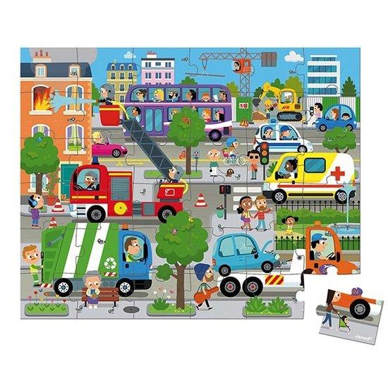 Janod speelgoed Janod puzzle city 36pcs +4yrs